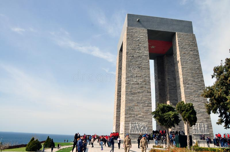 Canakkale Martyrs Memorial royalty free stock photos