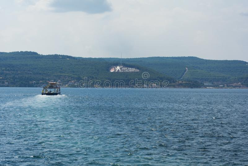 Canakkale-Monument im gallipoli, die Türkei stockfotografie