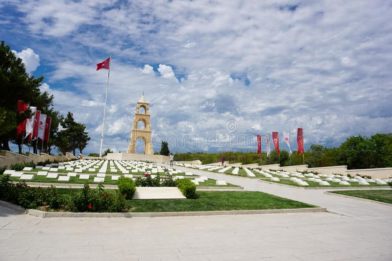 Canakkale, Turkey 23.05.2018: Martyrdom was built in the memory of martyrs royalty free stock photos