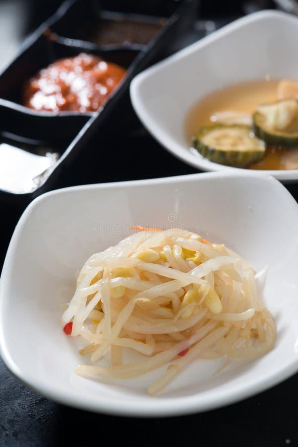 Canalón del veggie de Kimchi del coreano imagenes de archivo