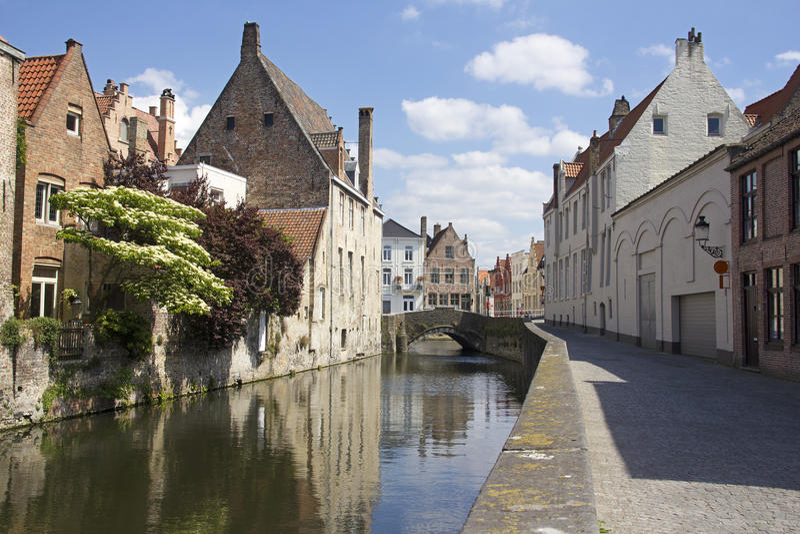 Canal à Bruges, Belgique image stock