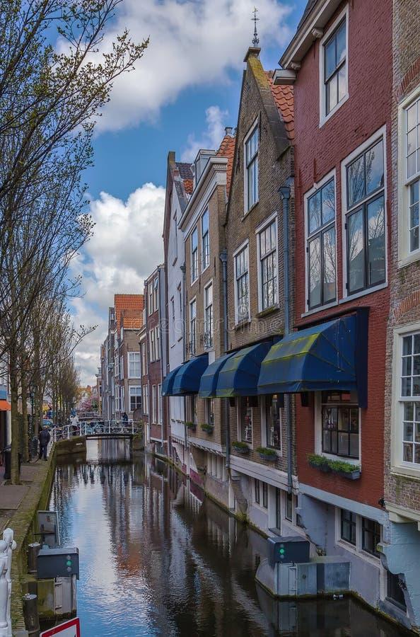 Canal à Delft, Pays-Bas photos libres de droits