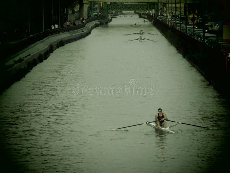 Canal à Milan photographie stock libre de droits