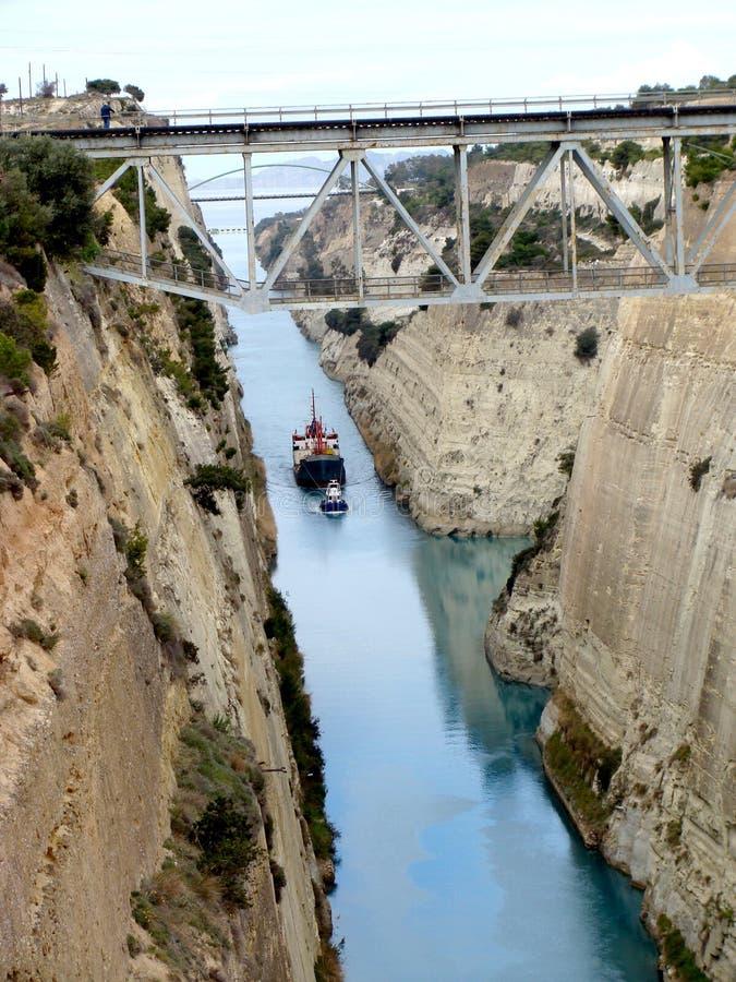 Canal 2 de Corinth fotos de stock royalty free