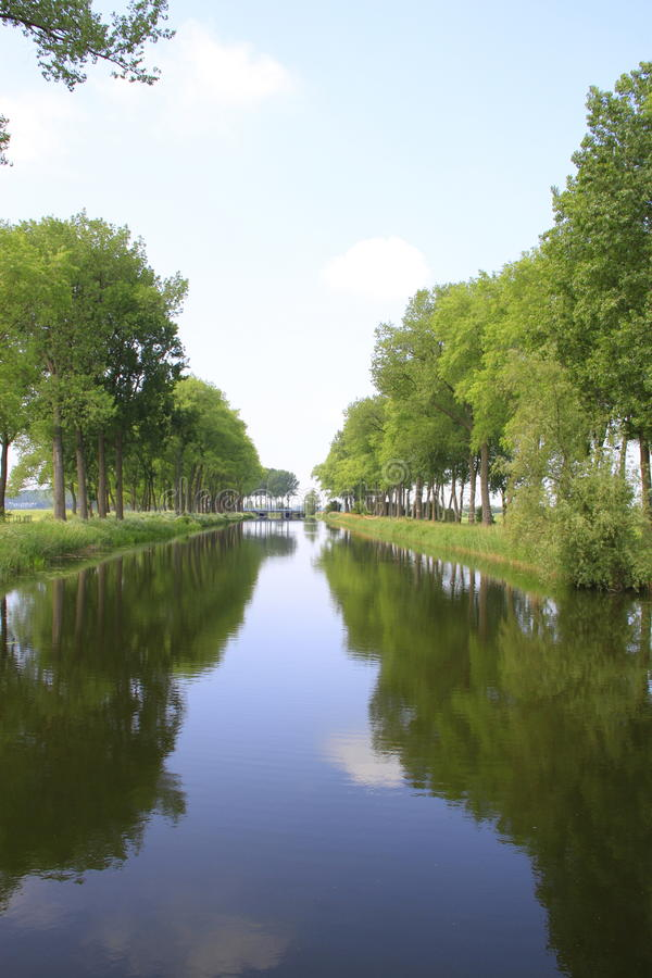 Download Canal stock photo. Image of tree, reflection, nature - 20057970