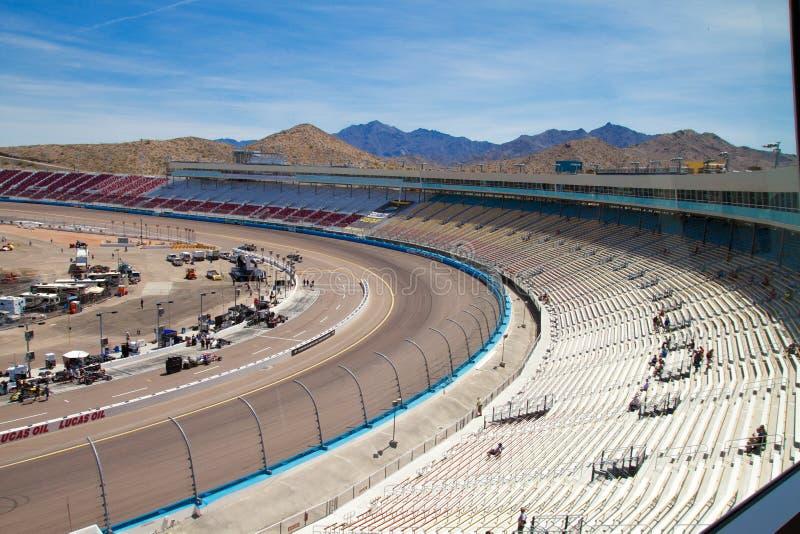 Canal adutor do ISMO - Phoenix Nascar e IndyCar foto de stock
