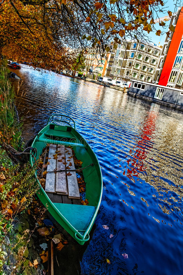 Download Canal in Amsterdam stock photo. Image of seasonal, architecture - 26984102