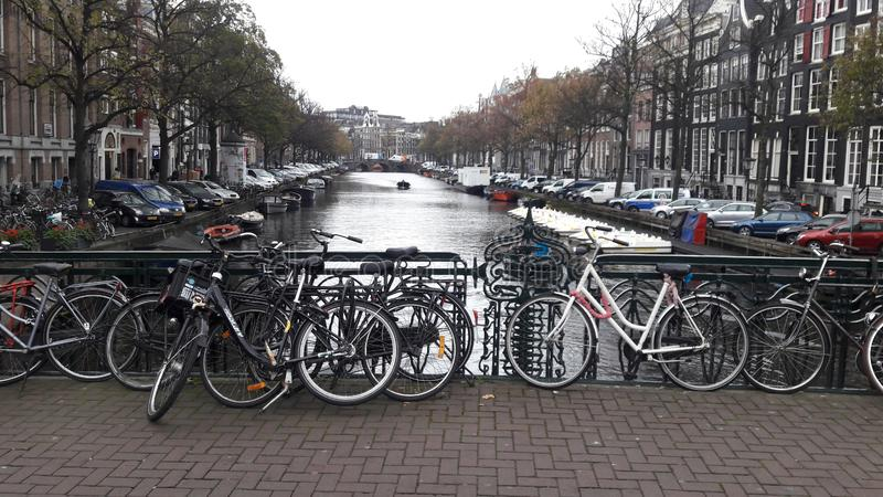 Canal amsterdam chanel travel old city antique tourist stock photography