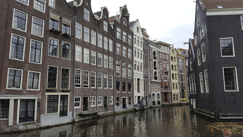 Canal of amsterdam Netherlands. Europe stock photos