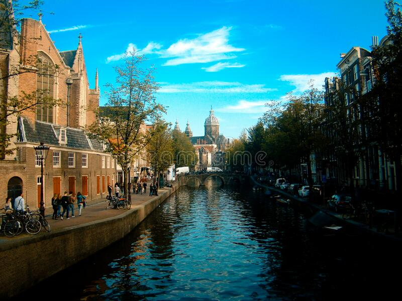 Canal In Amsterdam Free Public Domain Cc0 Image