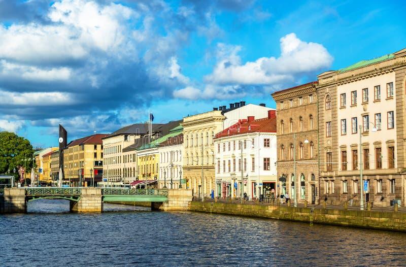 Canal au centre historique de Gothenburg - la Suède photo libre de droits