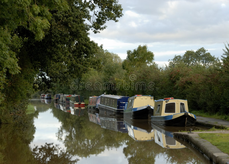 Canal Barges Royalty Free Stock Photography