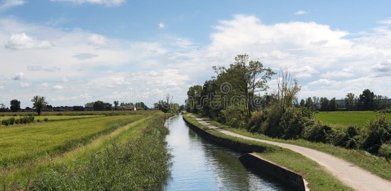 Canal of Bereguardo (IMilan) stock image