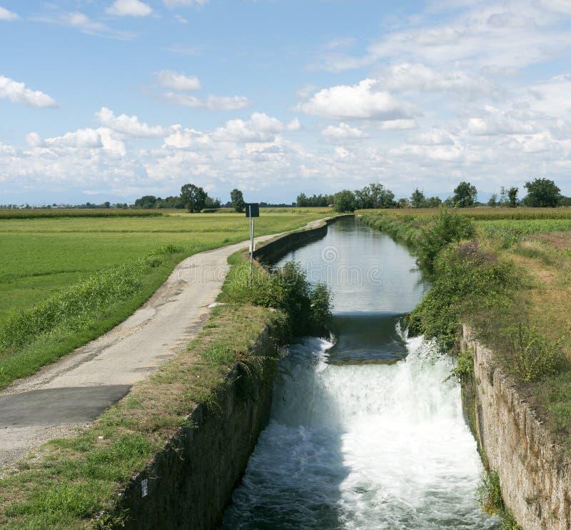 Canal of Bereguardo (IMilan) royalty free stock photos