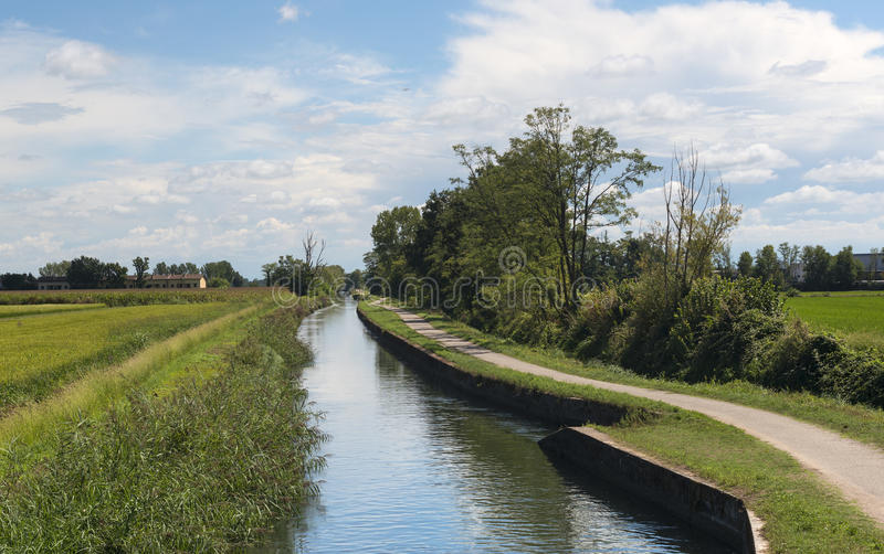 Canal of Bereguardo (IMilan) royalty free stock photo