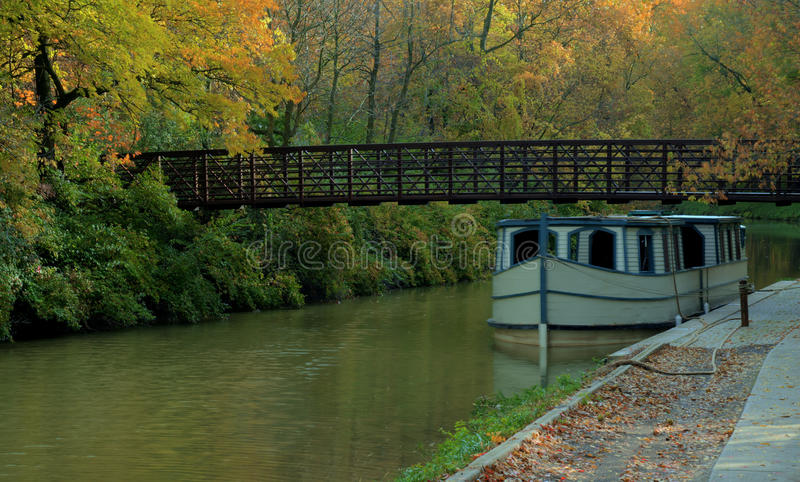 Download Canal Boat stock photo. Image of historic, bridge, park - 27148514