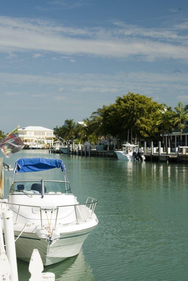 Download Canal  Boats Homes Florida Keys Stock Photo - Image: 4569776