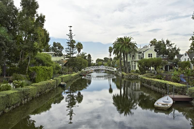Canal bonito Santa Monica de Venice Beach foto de stock royalty free