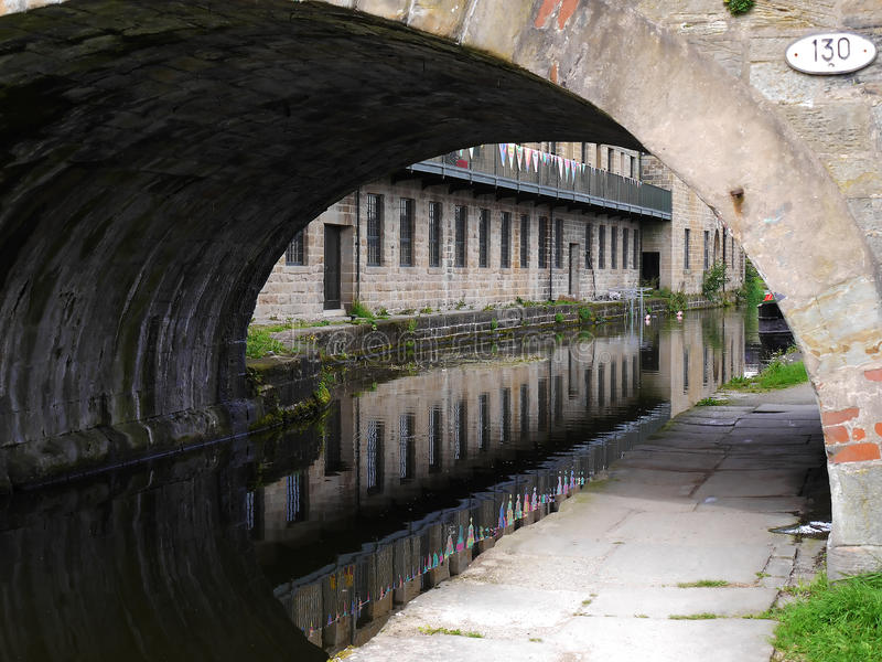 Canal Bridge at the 200 year celebration of the Leeds Liverpool Canal at Burnley Lancashire. The Leeds and Liverpool Canal is a canal in Northern England stock photos