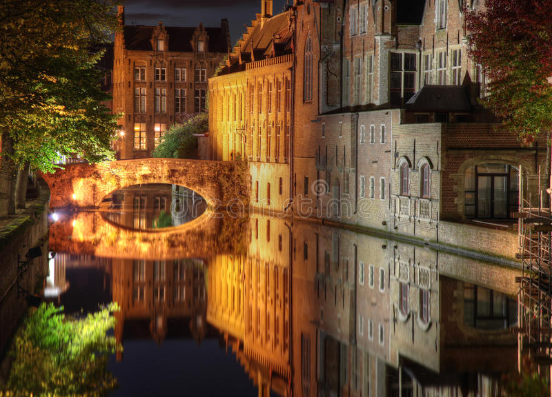 Canal in Bruges royalty free stock photography