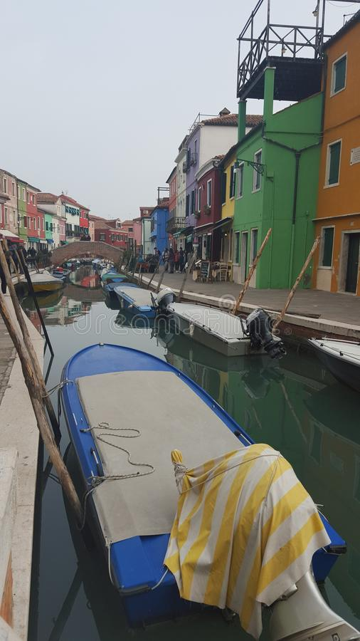 Burano on a winter day royalty free stock photos