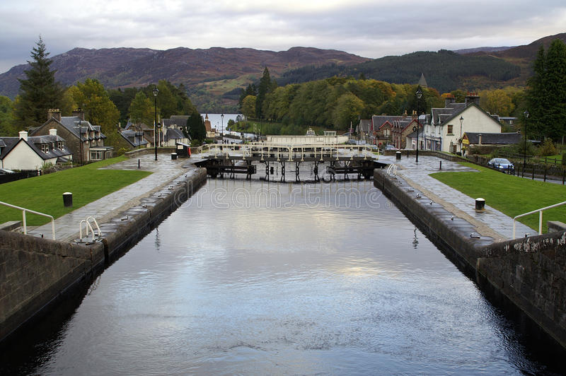 Canal calédonien, fort Augustus photo stock
