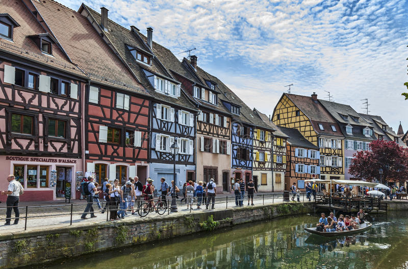 Canal in Colmar stock photos