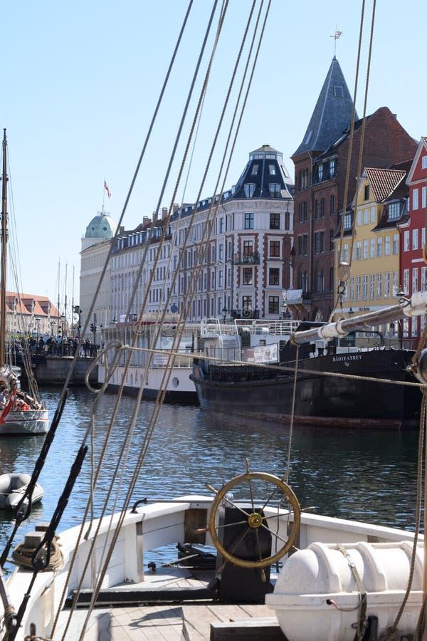 Canal Copenhague de Nyhavn au Danemark photographie stock