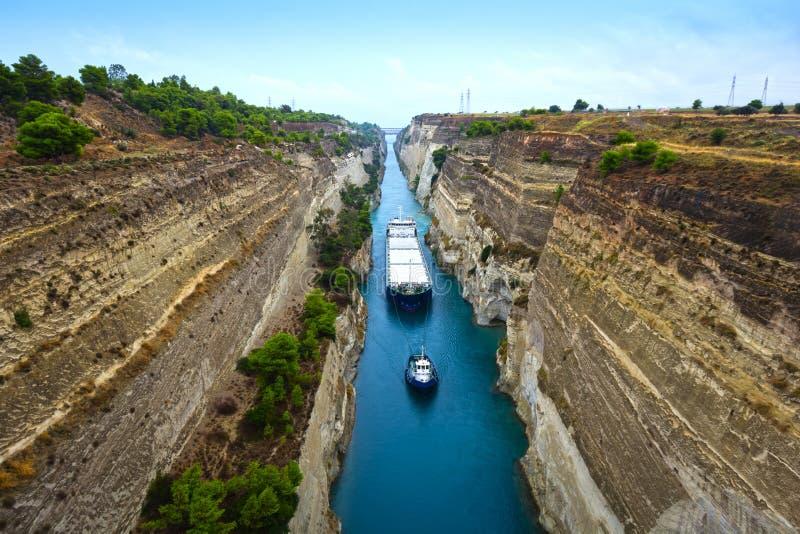 canal Corinthe image stock