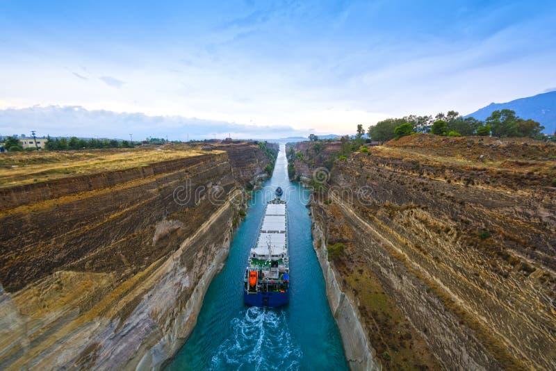 canal Corinthe photos stock
