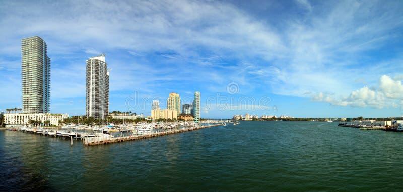 Canal costero inter de Miami Beach imagen de archivo libre de regalías