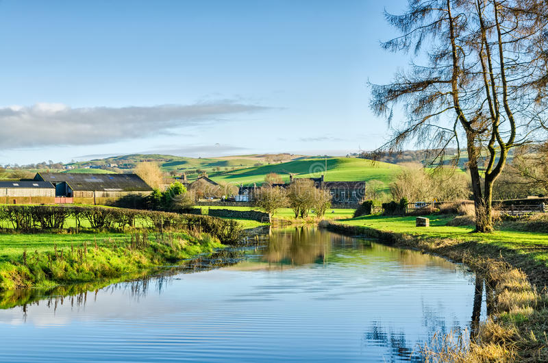 Canal Cumbria de Lancaster imagen de archivo libre de regalías