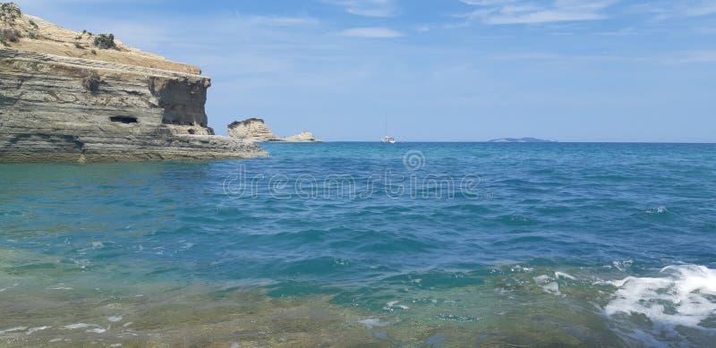 Canal d amour at Corfu island, Greece. Corfu, Canal d amour at Corfu island, Greece, the best beaches in corfu, gardenos beach corfu, marathias beach, paradise stock photography