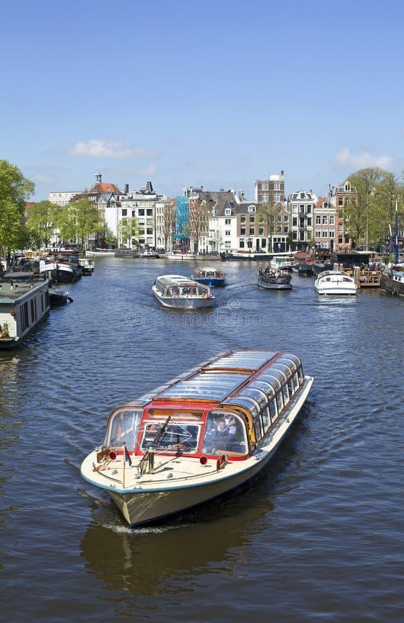 Canal d'amstel d'Amsterdam photo libre de droits