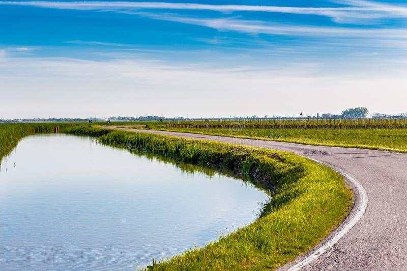 Canal d'irrigation images libres de droits