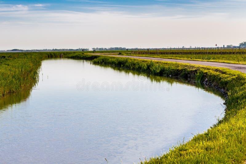 Canal d'irrigation photo libre de droits