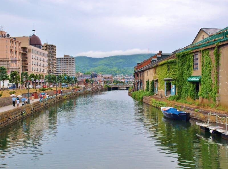 Canal d'Otaru au Hokkaido, Japon images stock