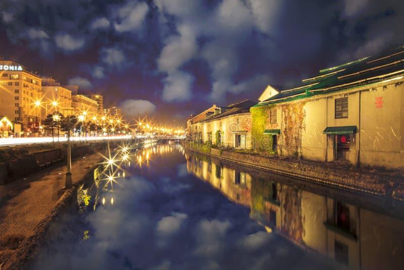 Canal d'Otaru, du Japon et warehousedistrict historiques photo libre de droits