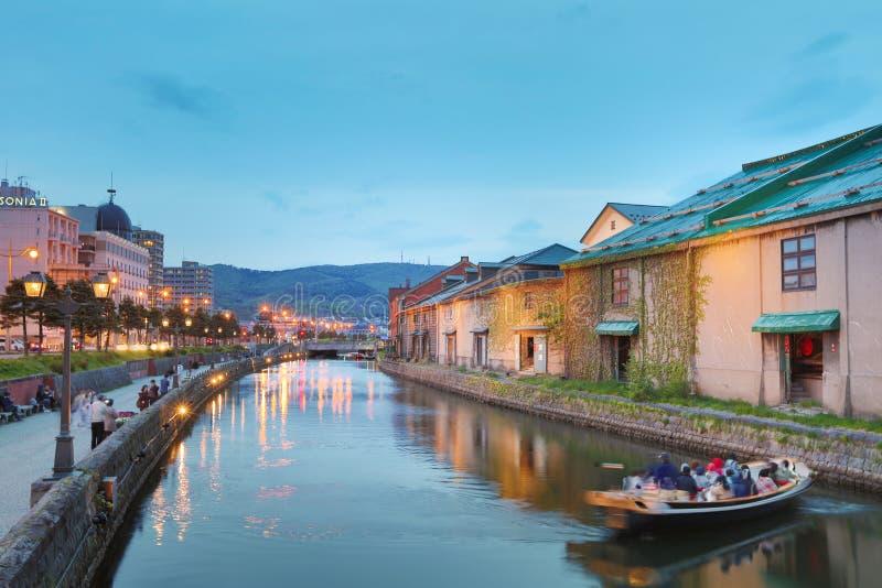 Canal d'Otaru, du Japon et warehousedistrict historiques photographie stock libre de droits