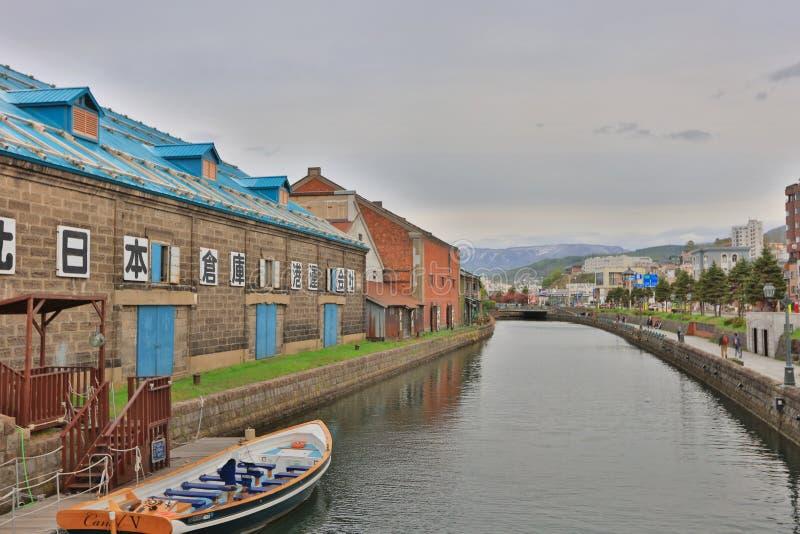 Canal d'Otaru, du Japon et warehousedistrict historiques photographie stock