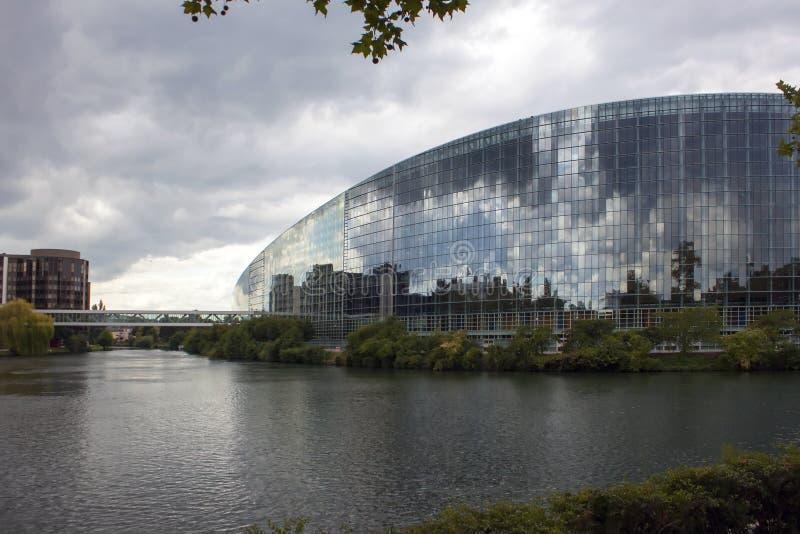 Canal da água em Strasbourg fotos de stock royalty free
