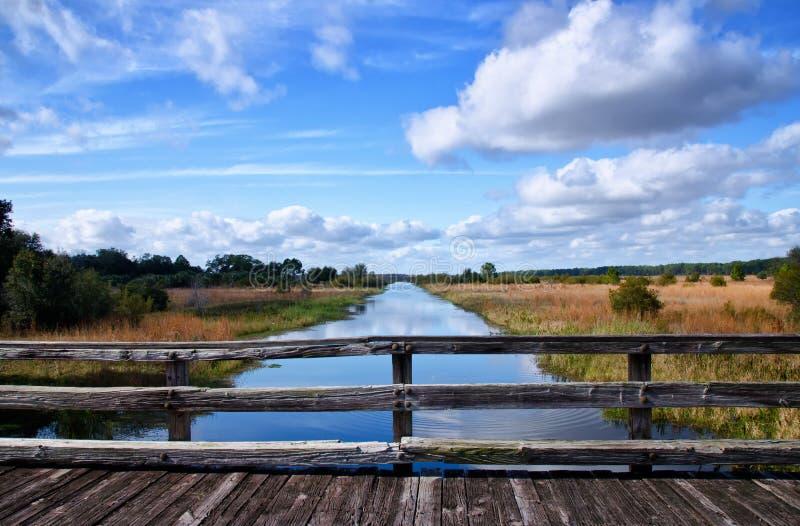 Canal da região selvagem de Florida foto de stock