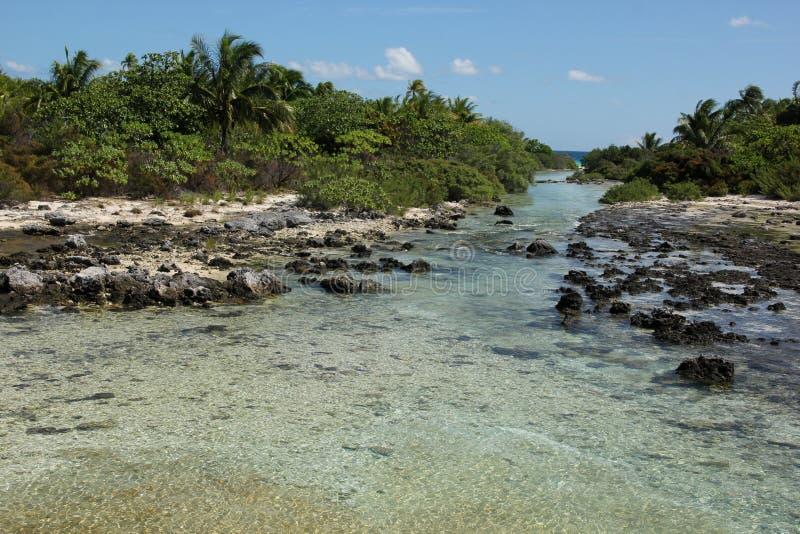Canal de água da maré fotografia de stock royalty free