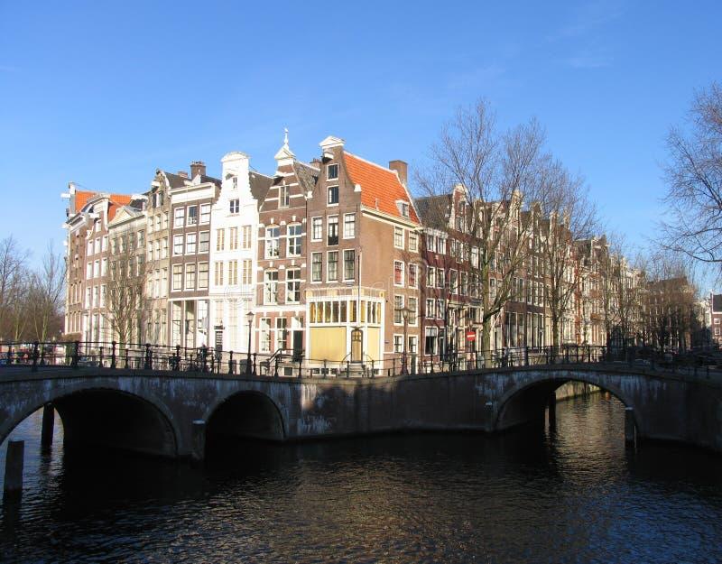 Canal de Amsterdão foto de stock