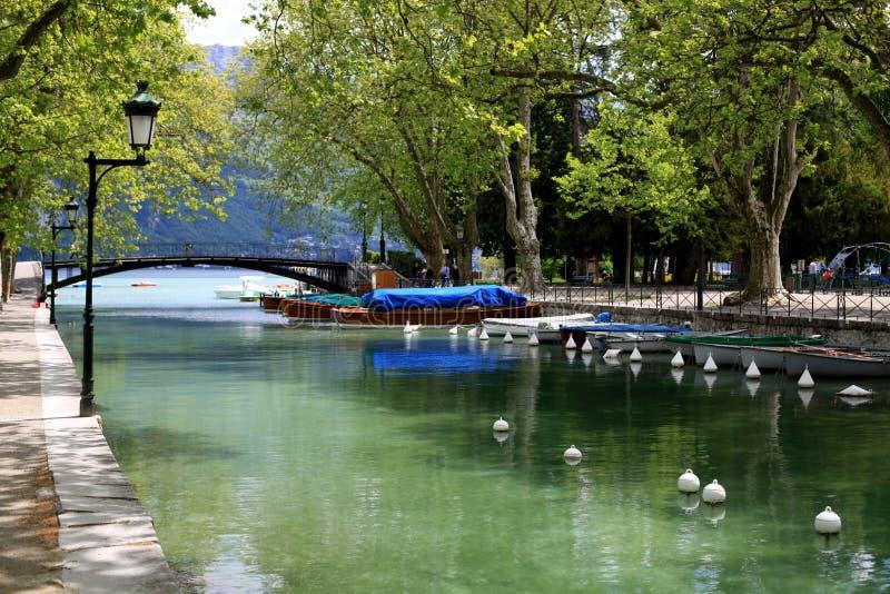 Canal de Annecy foto de archivo