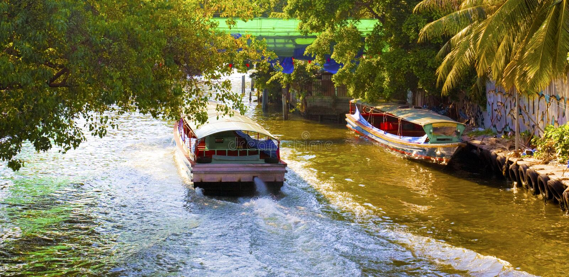 Canal de Bangkok foto de archivo libre de regalías