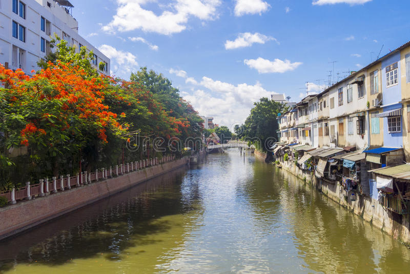Canal de Banguecoque fotografia de stock royalty free