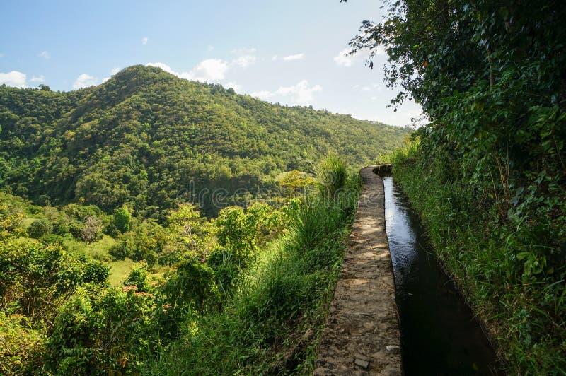 Canal de Beauregard in Martinique stock photo
