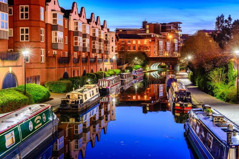Canal de Birmingham image libre de droits