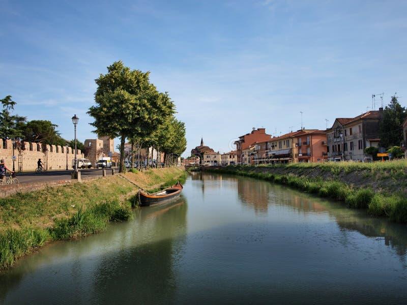 Canal de Bisetto, Monselice, Italia imágenes de archivo libres de regalías